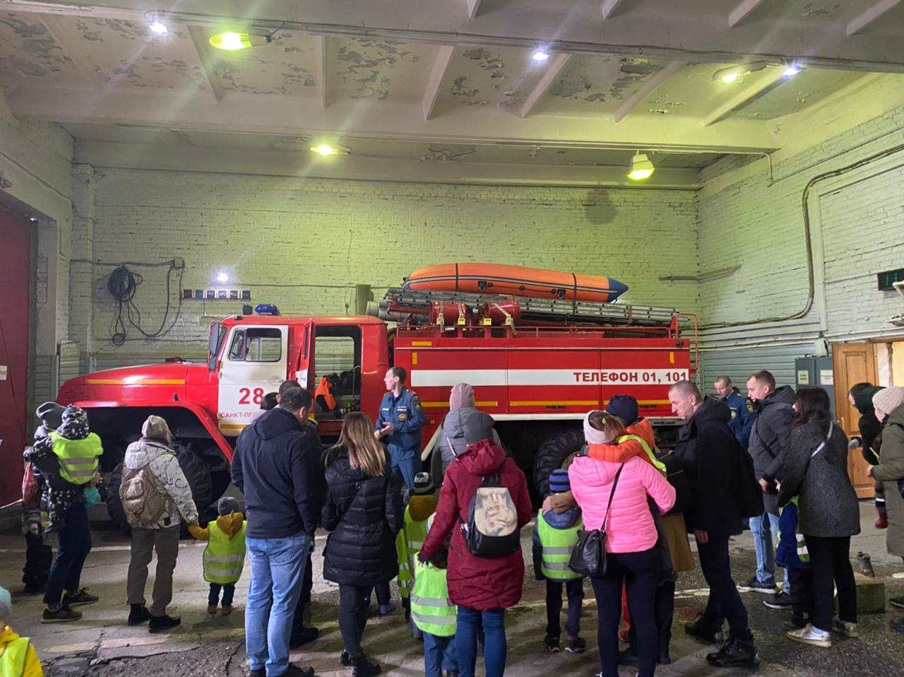 День открытых дверей в 28 пожарной части Красногвардейского района